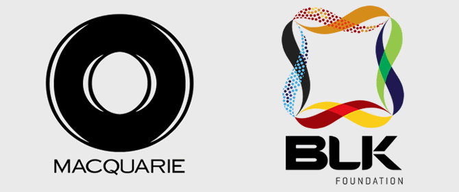 Macquarie, BLK Foundation logos